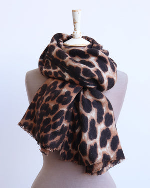 Load image into Gallery viewer, Nina Leopard Scarf - Neutral