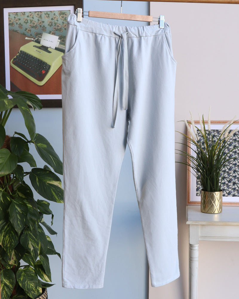 Erica Four Pocket Joggers - Light Grey