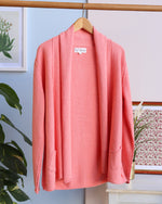 Chloe Open Front Cardigan - Soft Coral