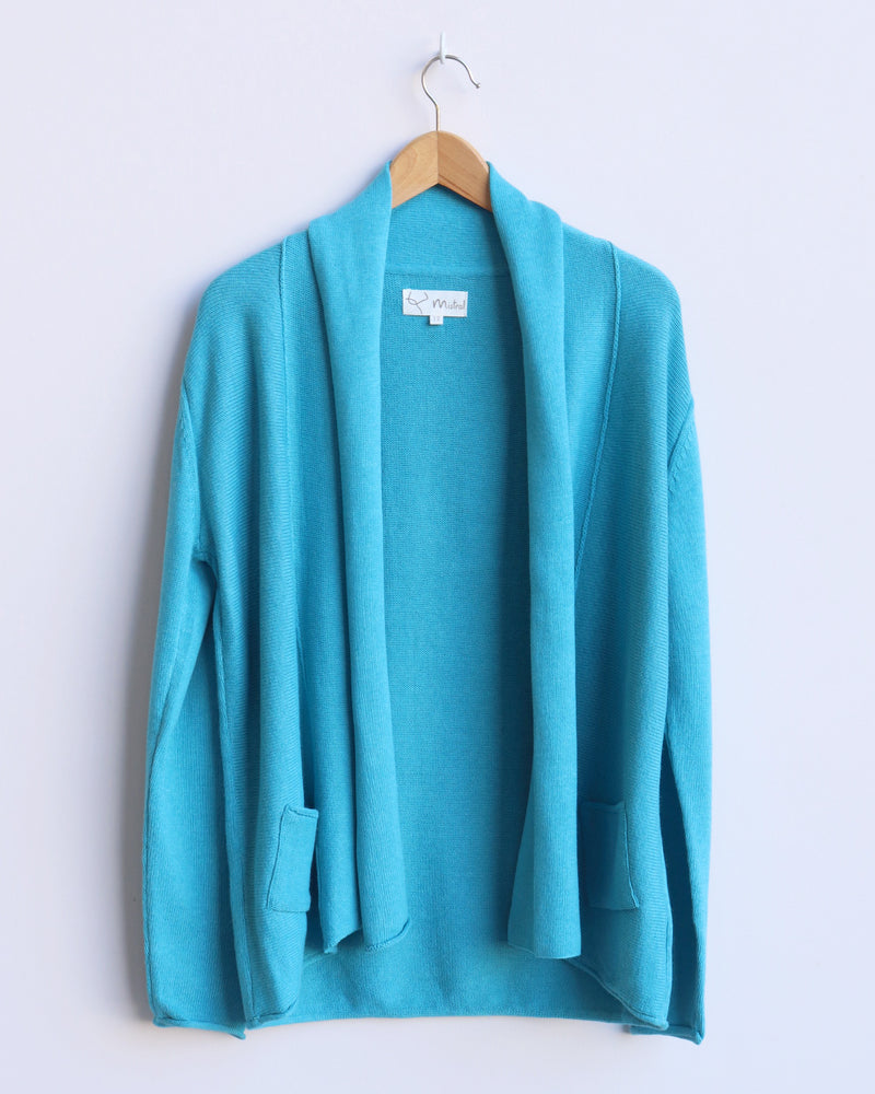 Chloe Open Front Cardigan - Teal