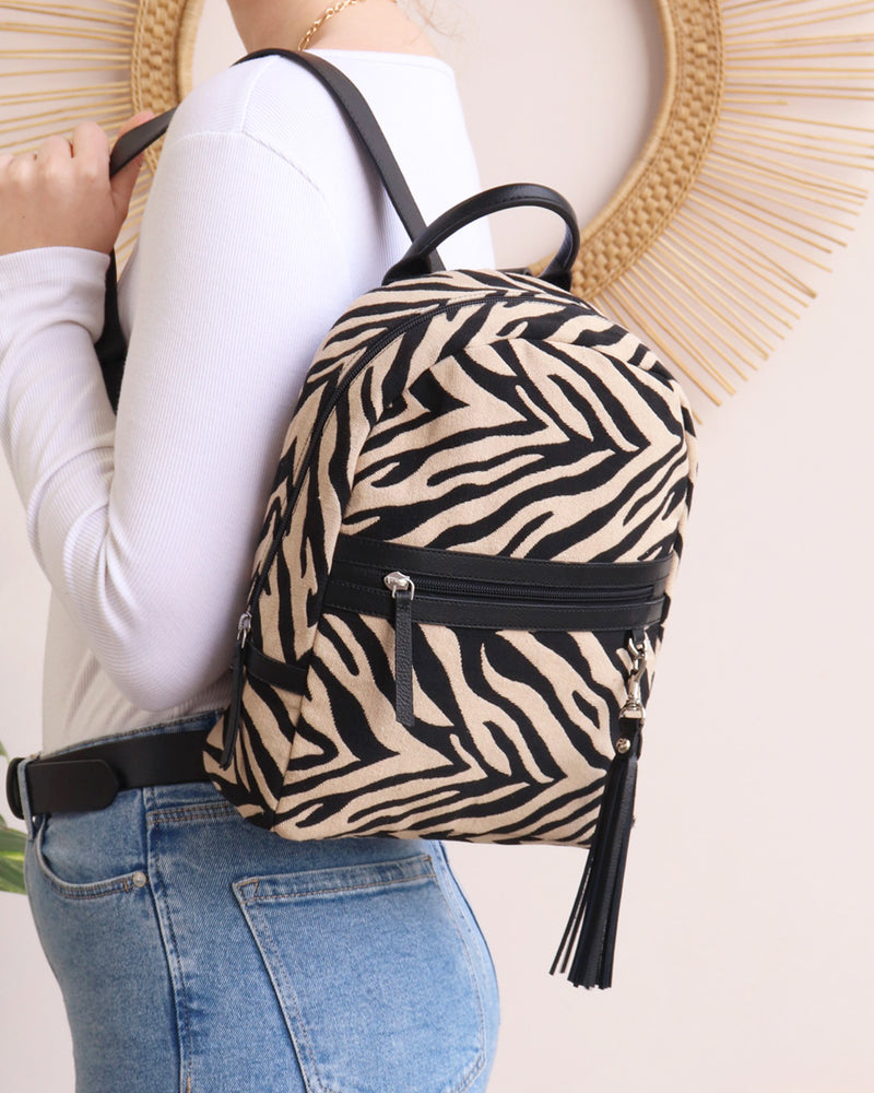 Load image into Gallery viewer, Sophie Backpack - Zebra