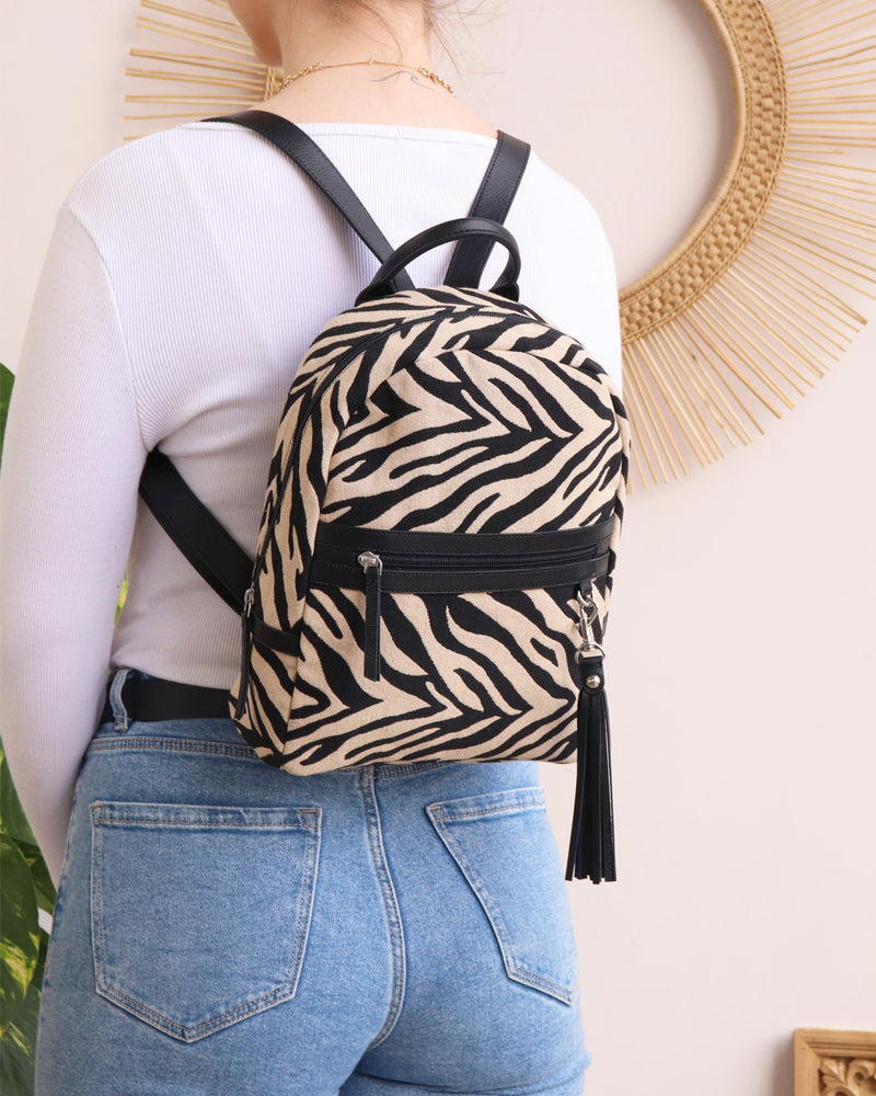 Sophie Backpack - Zebra