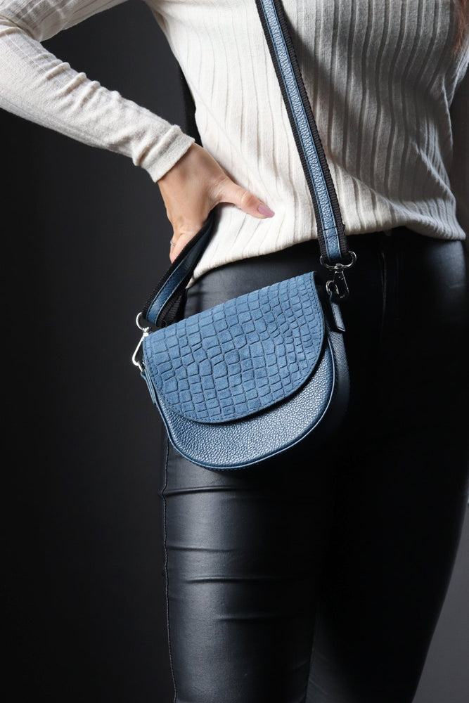 Moon Crossbody - Blue - Ollie & Nic