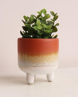 Mojave Glaze Planter - Orange