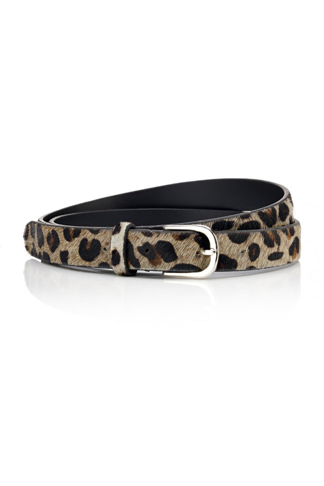 Narrow Belt - Grey Leopard