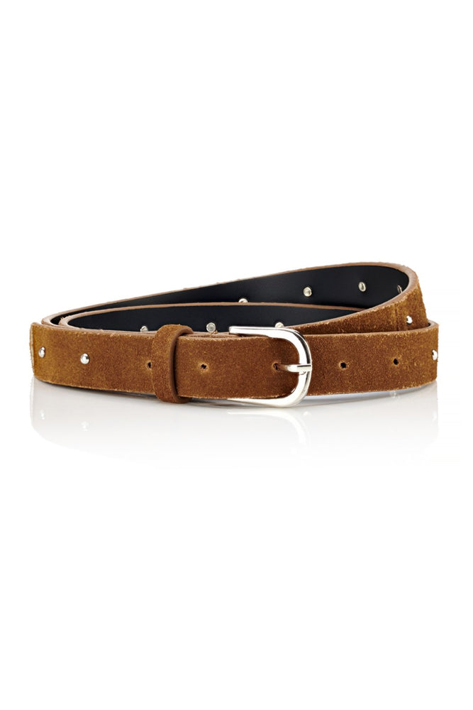 Narrow Belt - Tan Suede - Ollie & Nic