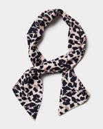 Leopard Print Head Scarf - Natural