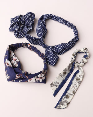 Hair Accessories Set - Navy