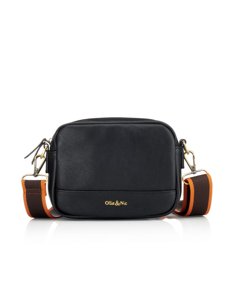 Nina Multi Strap Crossbody - Black