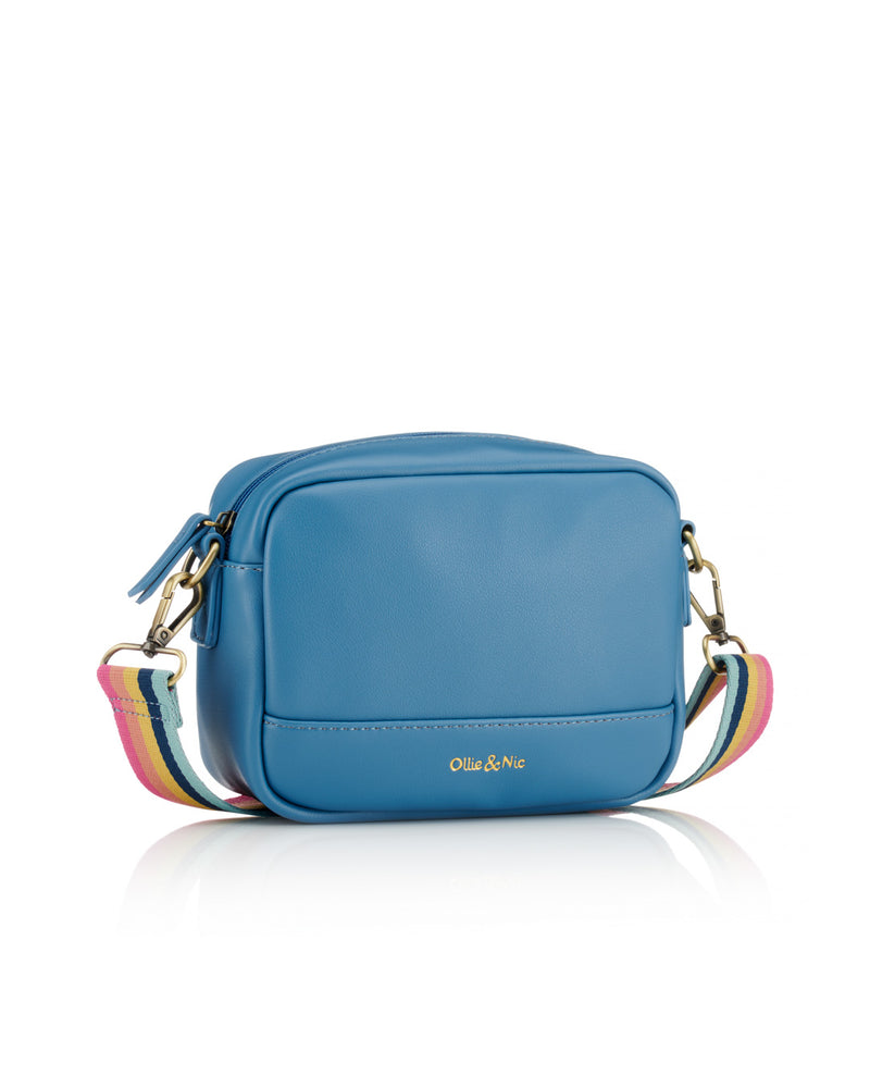 Nina Multi Strap Crossbody - Blue