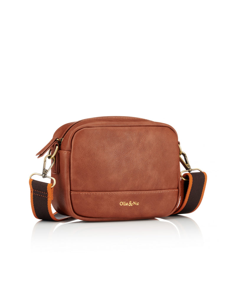 Nina Multi Strap Crossbody - Tan