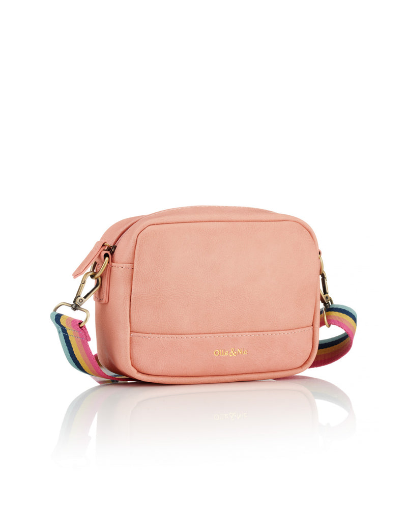 Nina Multi Strap Crossbody - Peach