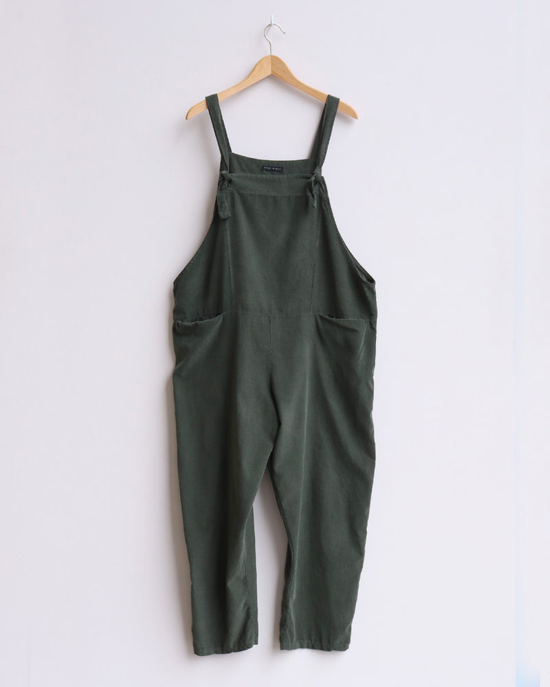 Load image into Gallery viewer, Delia Corduroy Dungarees - Olive