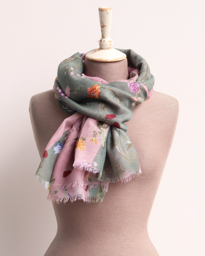 Monty Meadow Flowers Scarf - Multi