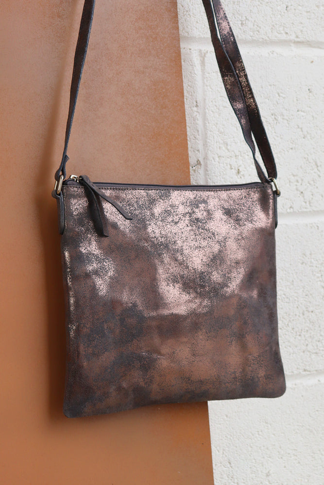 Large Crossbody Bag - Pewter - Ollie & Nic