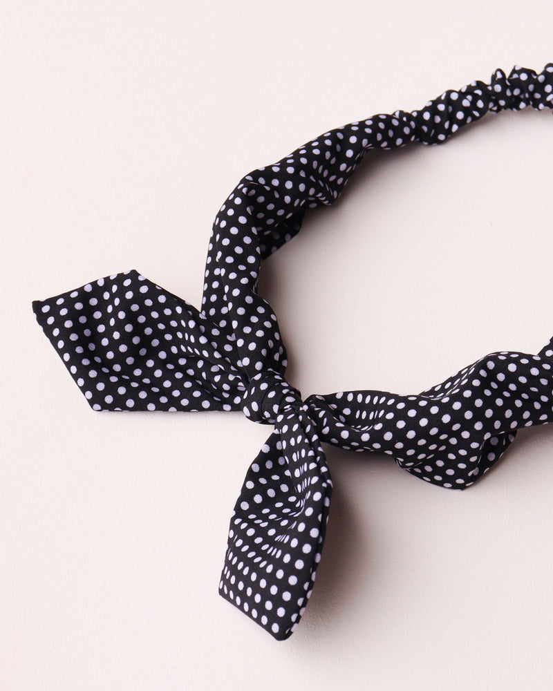 Dotty Print Bandeau - Black