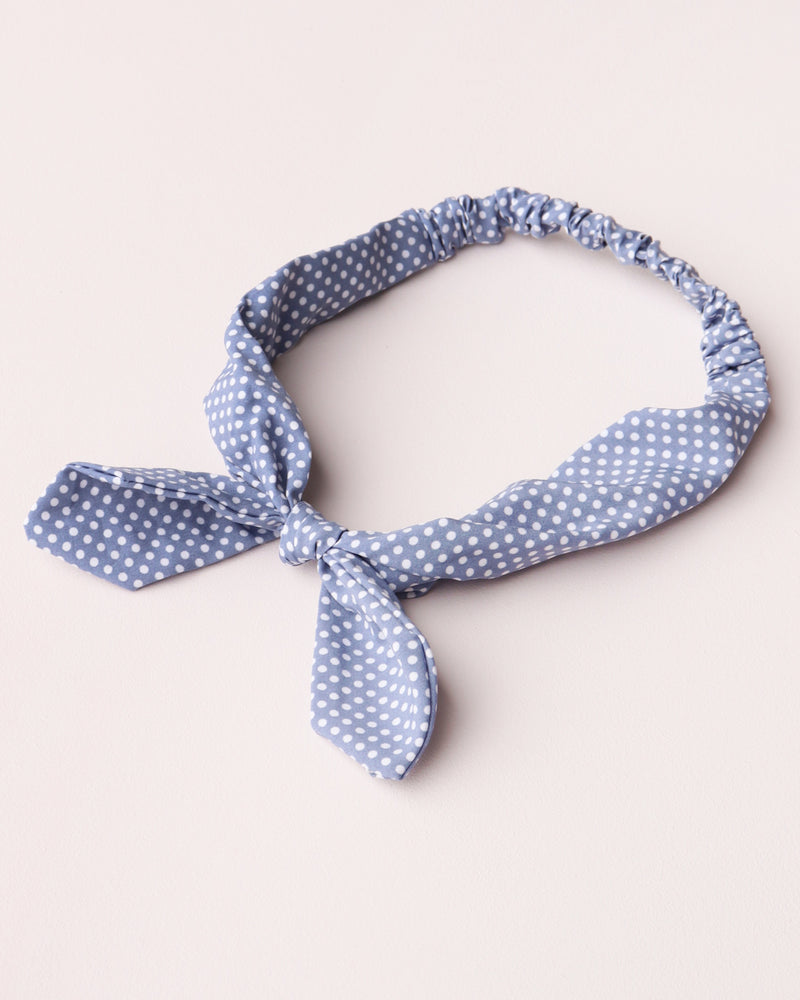 Dotty Print Bandeau - Light Blue