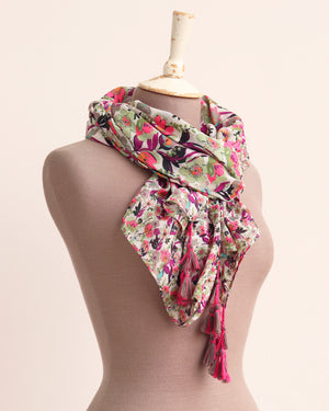 Load image into Gallery viewer, Saira Tassel Scarf - Pink