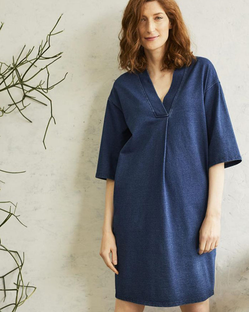 Skylar Loopback Dress - Indigo Blue