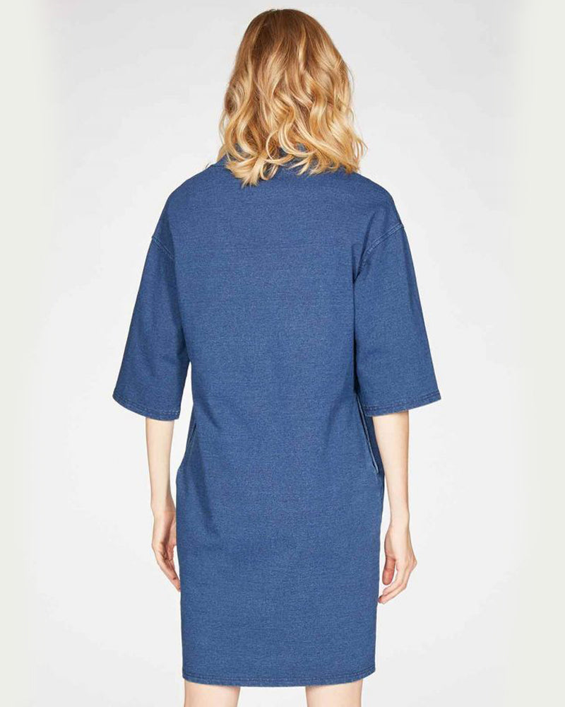 Load image into Gallery viewer, Skylar Loopback Dress - Indigo Blue