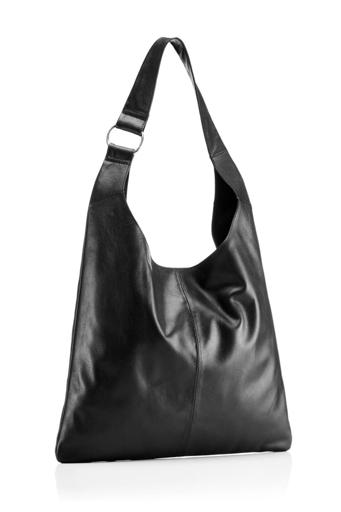 Sling Bag - Black Leather - Ollie & Nic