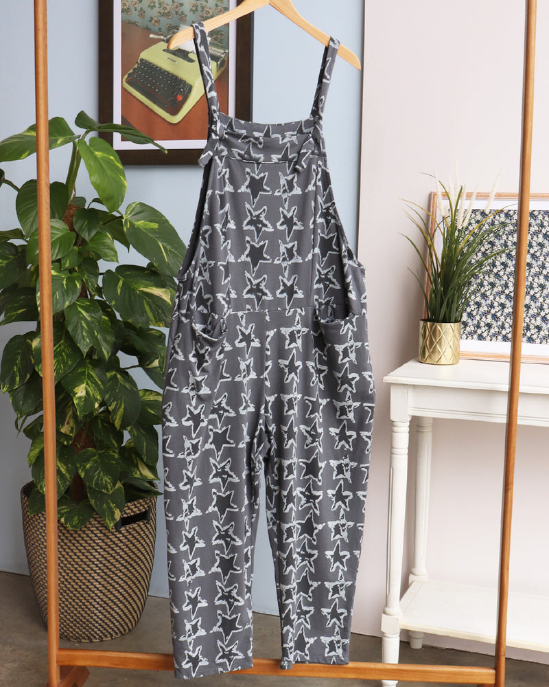 Load image into Gallery viewer, Ziggy Cropped Dungarees - Charcoal