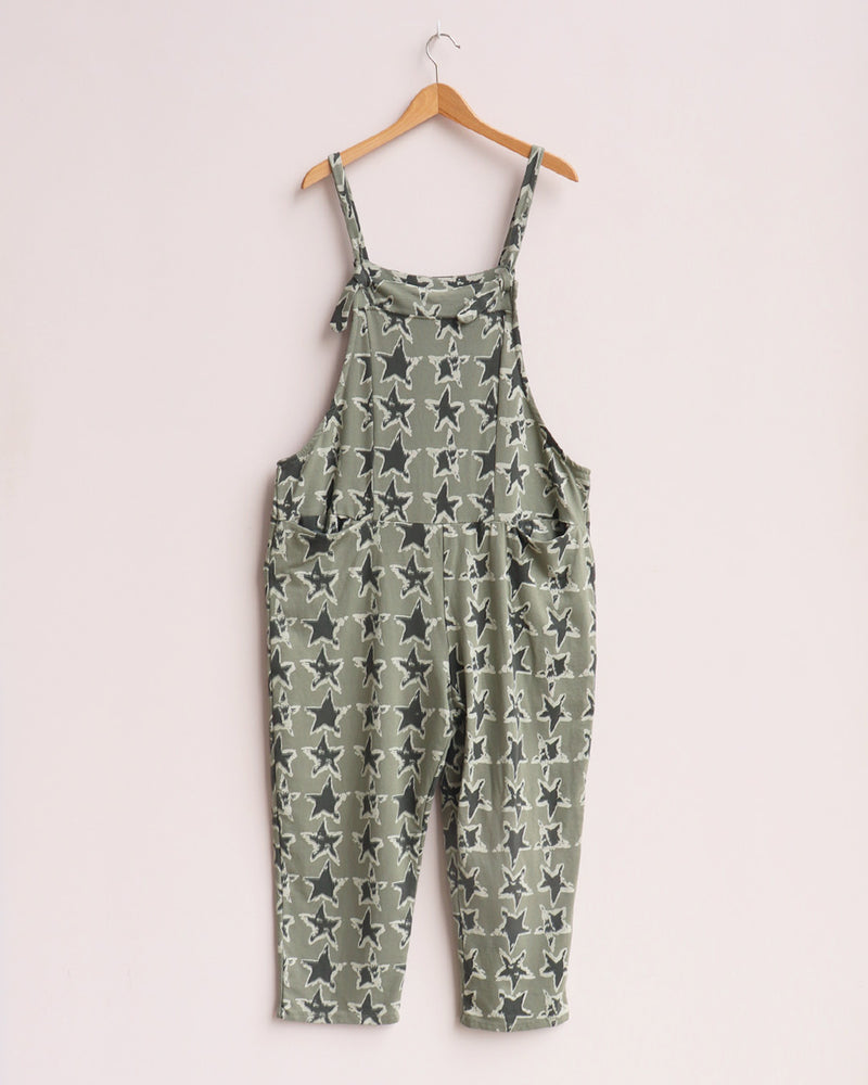 Load image into Gallery viewer, Ziggy Cropped Dungarees - Khaki