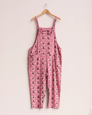Load image into Gallery viewer, Ziggy Cropped Dungarees - Rose