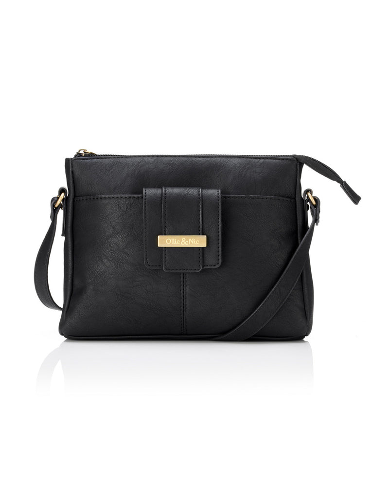 Stevie Crossbody - Black - Ollie & Nic
