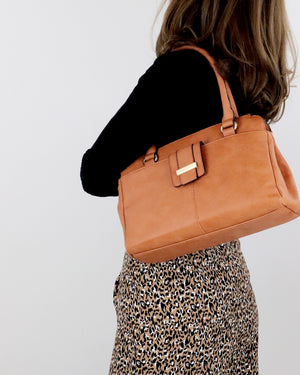 Stevie Shoulder Bag - Tan - Ollie & Nic