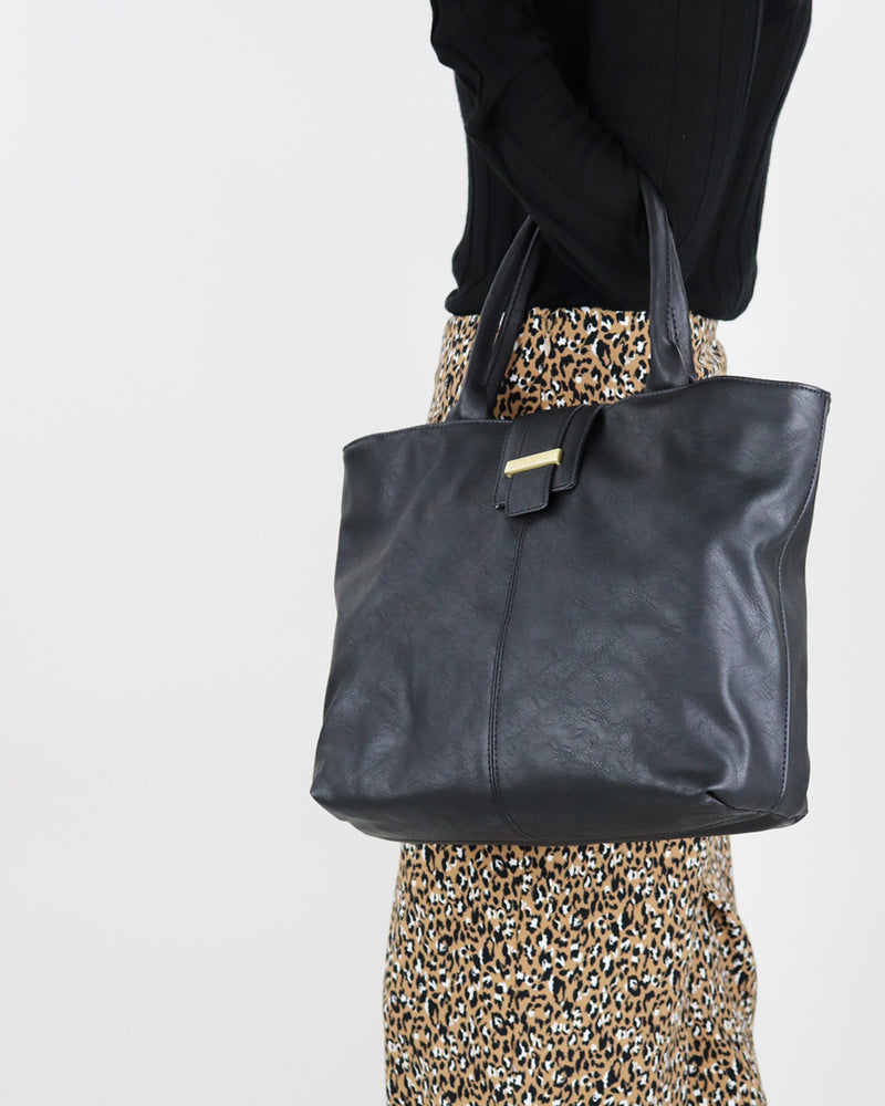 Stevie Work Tote - Black - Ollie & Nic