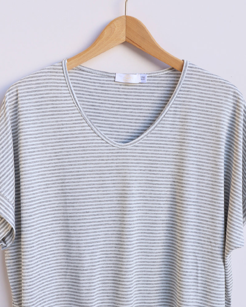 Load image into Gallery viewer, Sasha Striped Top - Grey