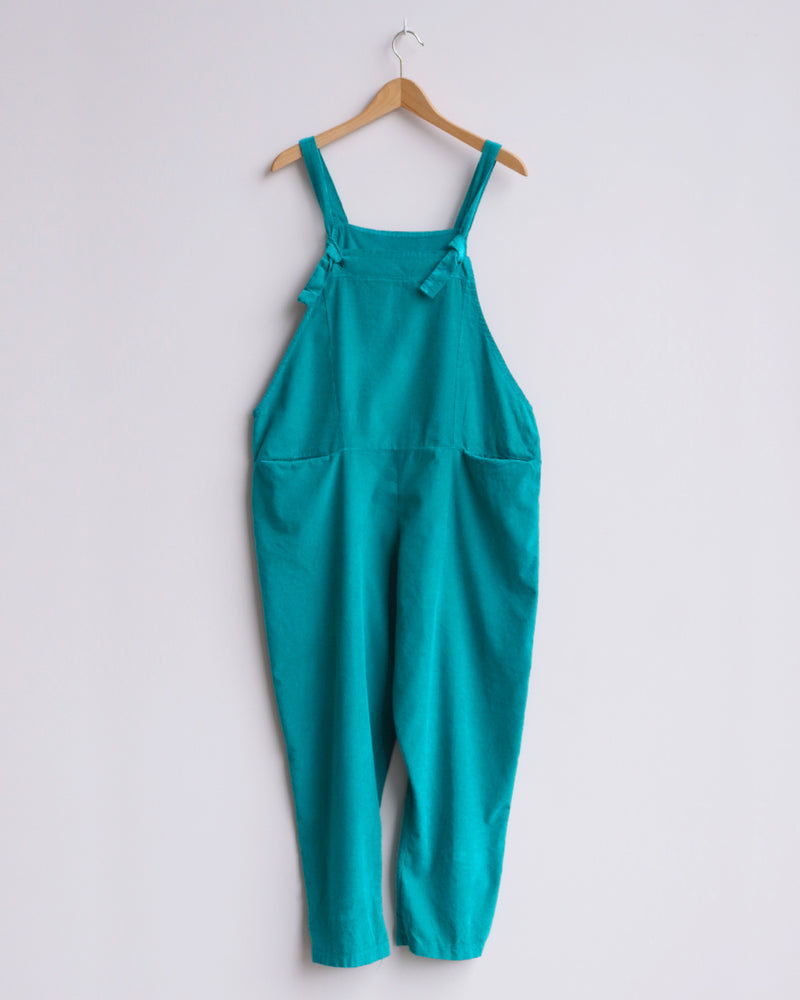 Load image into Gallery viewer, Delia Corduroy Dungarees - Teal