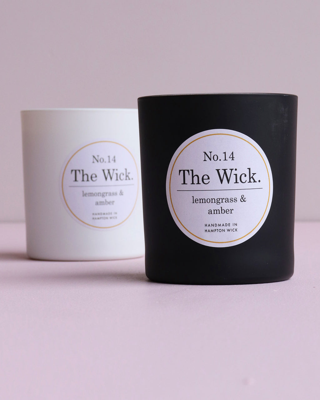 Lemongrass & Amber Soy Wax Scented Candle - Matte Black