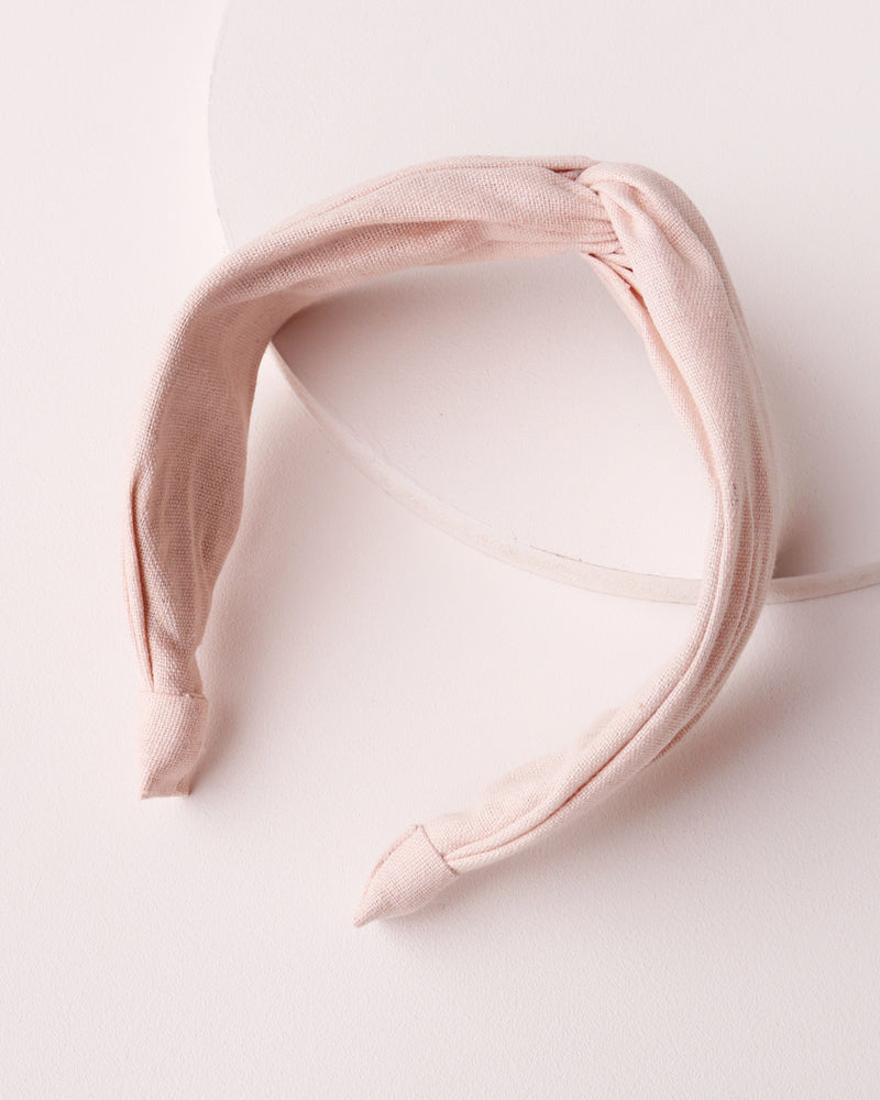 Twist Front Headband - Blush