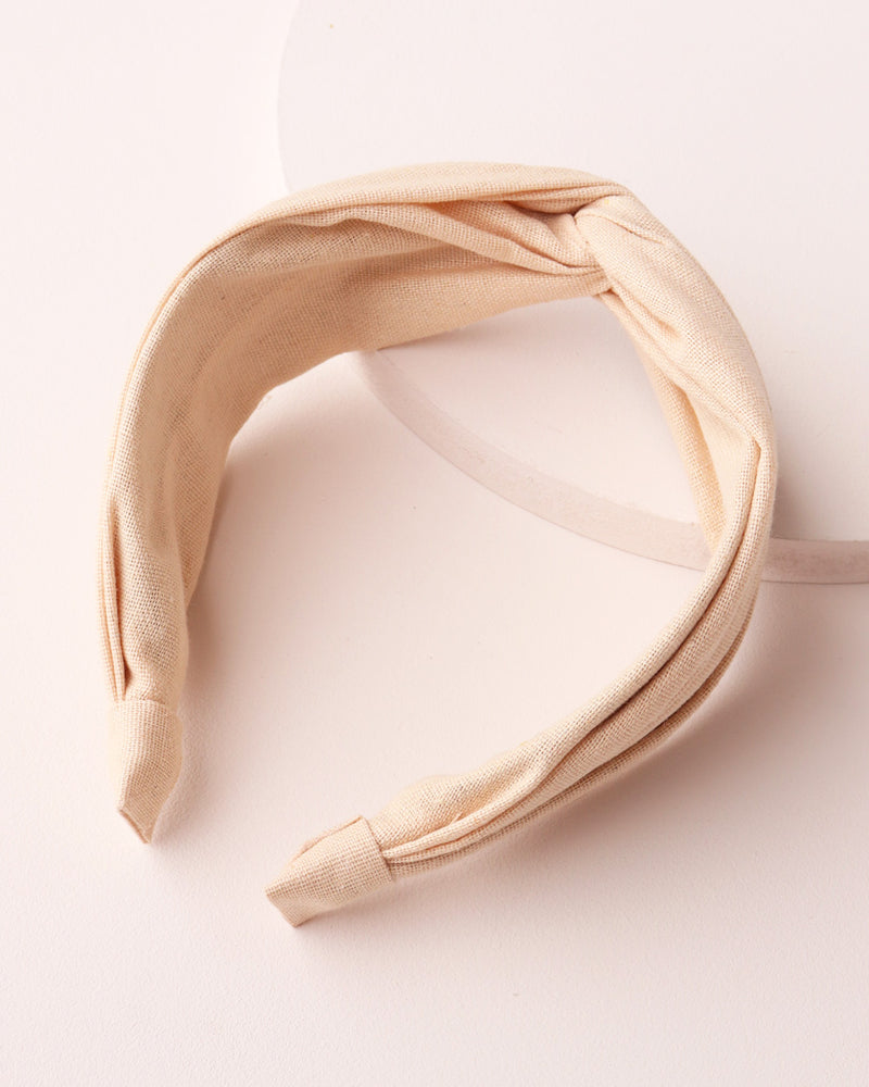 Twist Front Headband - Natural