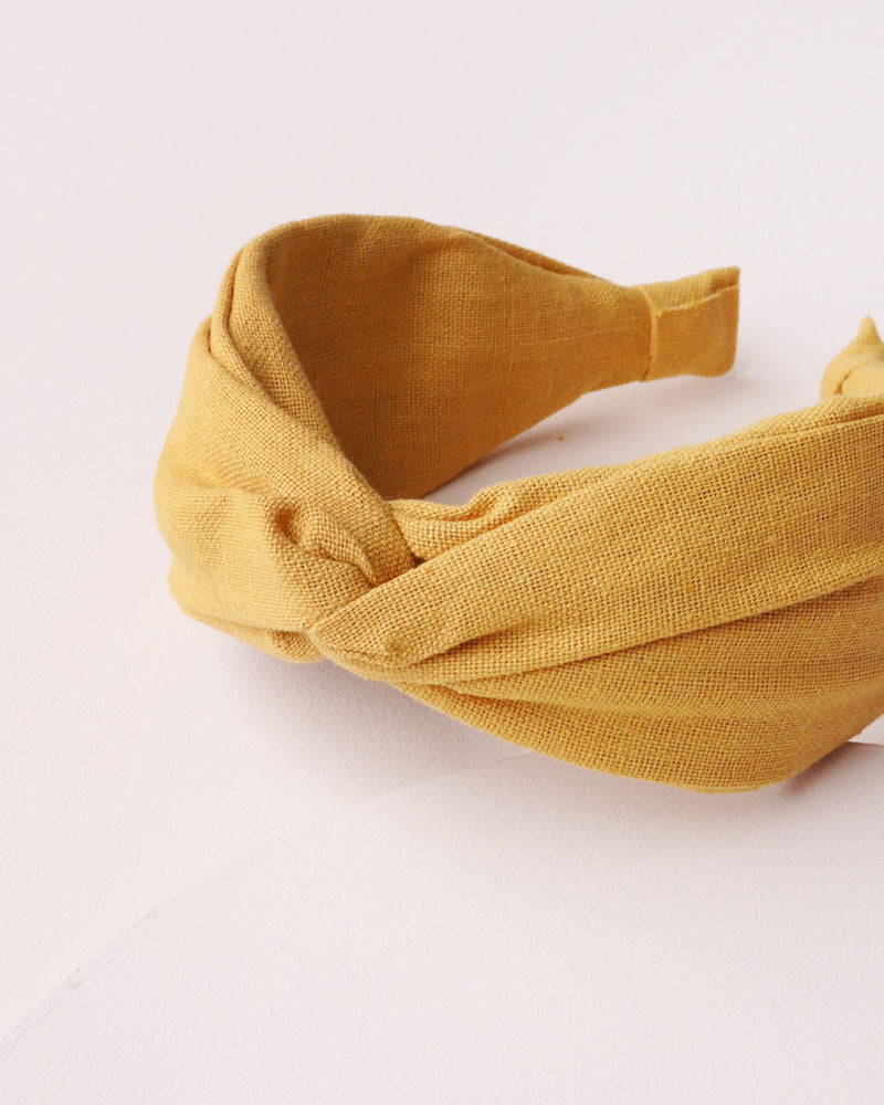 Load image into Gallery viewer, Twist Front Headband - Mustard