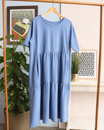 Tilly Tiered Smock Dress - Blue