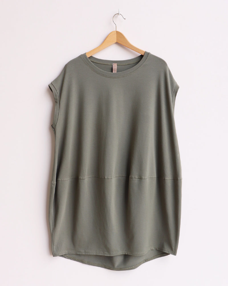 Marie Tunic Top - Khaki