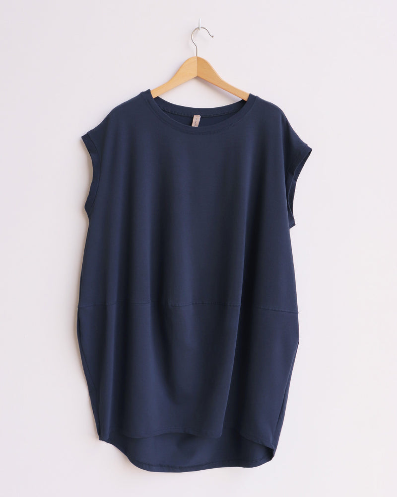 Marie Tunic Top - Navy