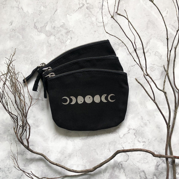 Moon Phases Zip Pouch