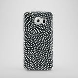 Black and white hearts Samsung Galaxy S6 case