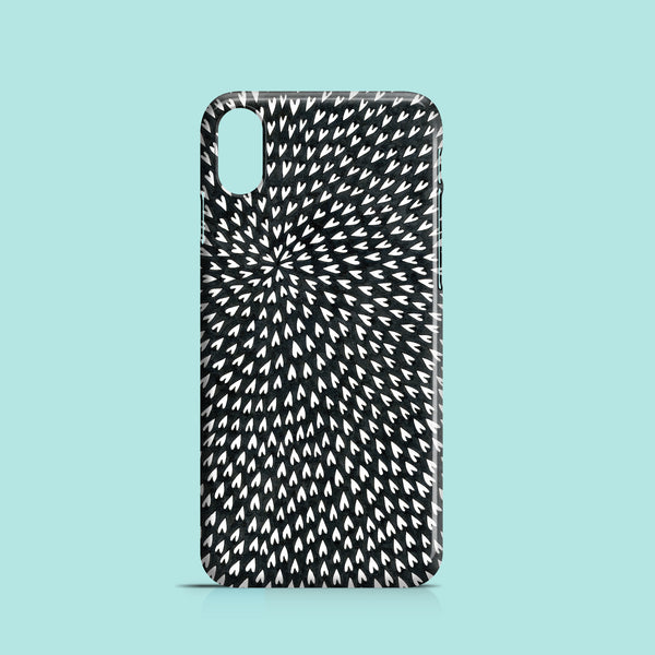 B&W Hearts mobile phone case