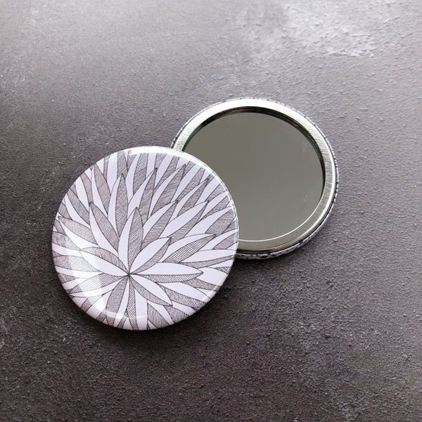 Leaves Pocket Mirror