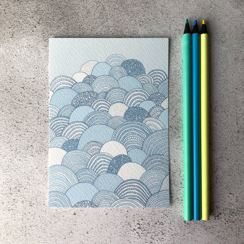 Clouds postcard A6