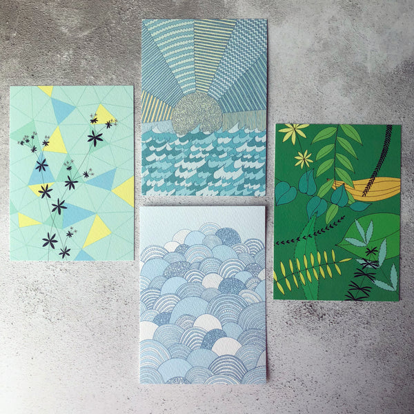 Set of 4 Spring A6 Prints / easter card set