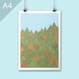 Autumn forest A4 print