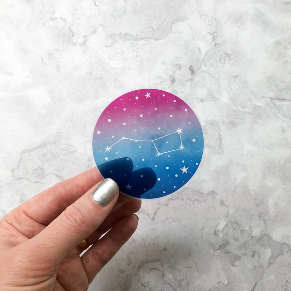 Ursa Major Clear Vinyl Sticker