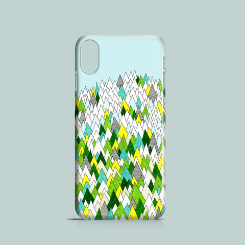 Blooming hills iPhone X case