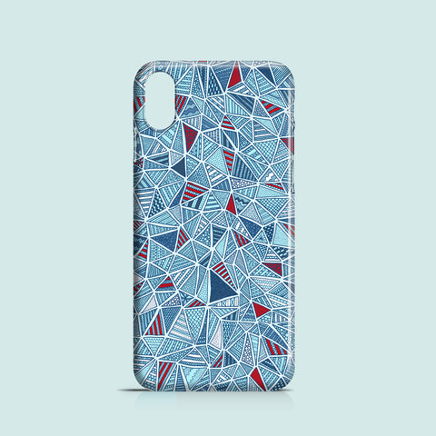 Blue diamonds iPhone XR case